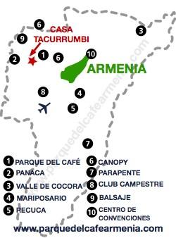 bbicacion Casa Tacurrumbi La Hacienda