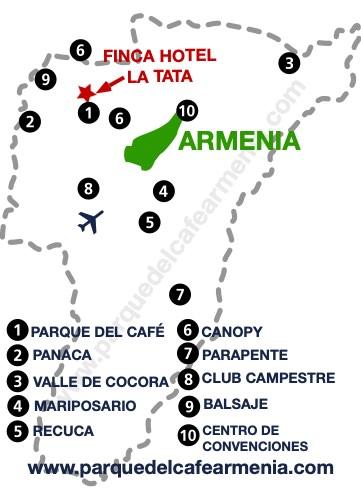 bbicacion Hotel Campestre La Tata