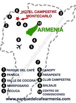 bbicacion Hotel Montecarlo